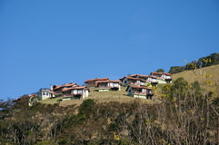 De huizen van de berg   Stock Afbeelding