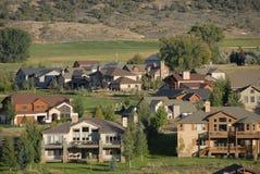 De huizen van de berg stock foto