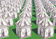 De huizen van de dollar Stock Foto