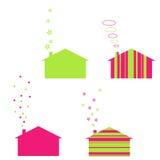 De huizen van de ecologie Stock Afbeelding