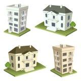 De huizen van de familie Stock Foto