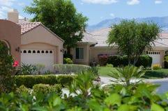 De huizen van de het golfcursus van het Palm Springs Royalty-vrije Stock Afbeelding