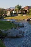 De huizen van de het golfcursus van het Palm Springs Royalty-vrije Stock Fotografie