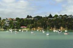 De Huizen van de luxe in Paihia, Nieuw Zeeland stock afbeelding