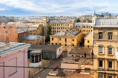 De huizen van de meningsbinnenplaats op de 1st Sovjetstraat Royalty-vrije Stock Afbeelding