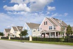 De huizen van de pastelkleur Royalty-vrije Stock Fotografie