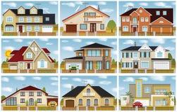 De huizen van de stad vector illustratie