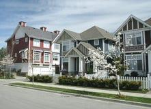 De Huizen van de stad Stock Foto's