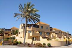De huizen van de vakantie, Fuerteventura, Spanje Royalty-vrije Stock Foto's