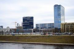 De huizen van de Vilniusstad in centrum op 13 Maart, 2015 Royalty-vrije Stock Afbeelding