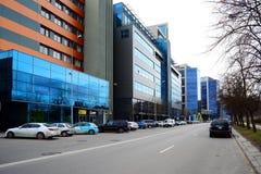 De huizen van de Vilniusstad in centrum op 13 Maart, 2015 Royalty-vrije Stock Fotografie