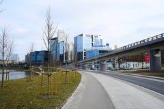 De huizen van de Vilniusstad in centrum op 13 Maart, 2015 Stock Afbeeldingen