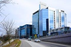 De huizen van de Vilniusstad in centrum op 13 Maart, 2015 Stock Foto