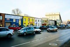 De huizen van de Vilniusstad in Zirmunai-de stad van districtsnord Royalty-vrije Stock Afbeeldingen