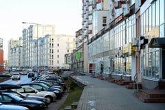 De huizen van de Vilniusstad in Zirmunai-de stad van districtsnord stock fotografie