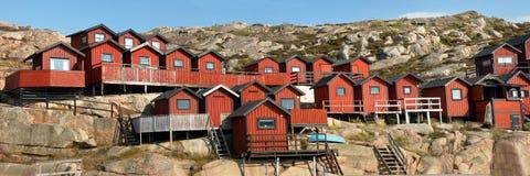 De huizen van de visser Stock Foto's