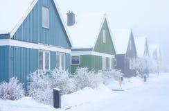 De Huizen van de winter Royalty-vrije Stock Afbeeldingen
