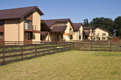 De huizen van de woonwijk Stock Fotografie