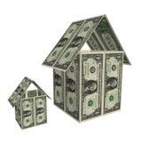 De huizen van dollars Stock Foto