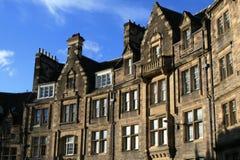 De huizen van Edinburgh stock afbeeldingen