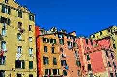 De huizen van Genua Stock Foto