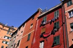 De huizen van Genua Royalty-vrije Stock Afbeeldingen