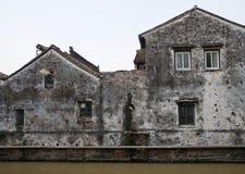 De huizen van Grunge royalty-vrije stock afbeelding