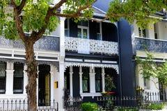 De Huizen van het Darlinghurstterras, Sydney, NSW, Australië Stock Afbeeldingen