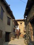 De huizen van het dorp Stock Foto's