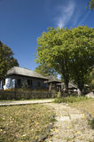 De huizen van het dorp royalty-vrije stock afbeeldingen