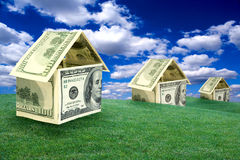 De Huizen van het geld Stock Afbeeldingen