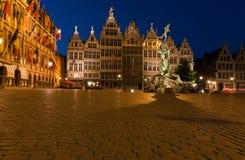 De huizen van het gilde in Grote Markt, Antwerpen, België stock fotografie