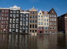 De huizen van het kanaal, Amsterdam Stock Fotografie