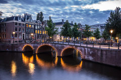 De Huizen van het Kanaal van Amsterdam stock fotografie