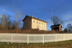 De huizen van het landbouwbedrijf Royalty-vrije Stock Foto