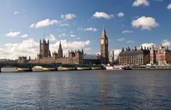 De huizen van het Parlement in Londen Stock Foto