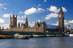 De huizen van het Parlement in Londen Stock Afbeelding