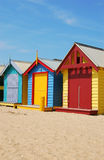 De huizen van het strand Stock Afbeelding