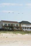 De Huizen van het strand Stock Foto's