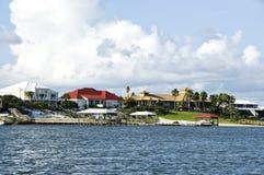 De Huizen van het strand stock foto