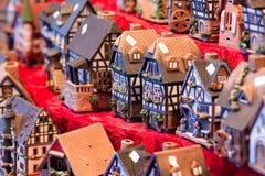 De huizen van het stuk speelgoed Stock Fotografie