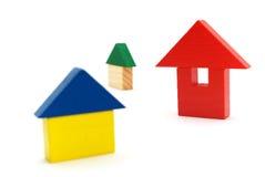 De huizen van het stuk speelgoed Royalty-vrije Stock Afbeelding