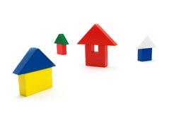 De huizen van het stuk speelgoed Stock Foto
