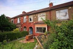 De huizen van het terras klaar om worden vernietigd Royalty-vrije Stock Fotografie