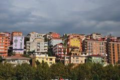 De huizen van Istambul Stock Foto's