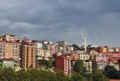 De huizen van Istanboel Stock Afbeeldingen