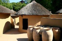 De huizen van Kusasi van Ghana