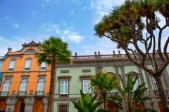De huizen van Las Palmas DE Gran Canaria Vegueta royalty-vrije stock afbeeldingen