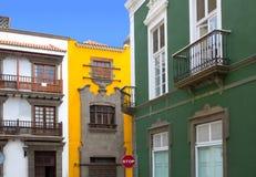 De huizen van Las Palmas DE Gran Canaria Vegueta royalty-vrije stock afbeelding