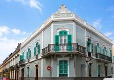 De huizen van Las Palmas DE Gran Canaria Veguetal stock foto